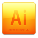 128x128 of Ai CS3 Icon (clean)