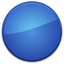Blank Badge Blue