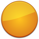Blank Badge Orange