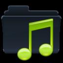 128x128 of Music Folder Badged