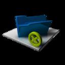 128x128 of Blue Folder Delete