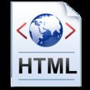 128x128 of Document Code HTML