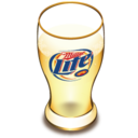 128x128 of Miller beer glass