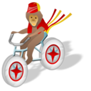 Monkey bicycle
