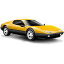 128x128 of Classic car yellow