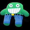 Green Blue Pants