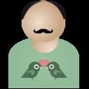 Afro man birds