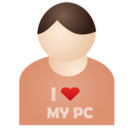 128x128 of I love my pc