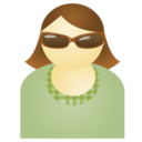 Sunglass woman green