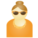Sunglass woman orange