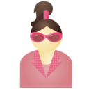 Sunglass woman pink