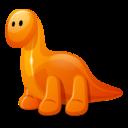128x128 of Dino orange