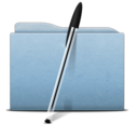 Folder Blue Bic