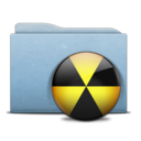 Folder Blue Burn