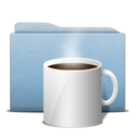 128x128 of Folder Blue Coffee