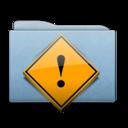 128x128 of Folder Blue Danger