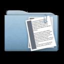 128x128 of Folder Blue Documents