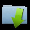 128x128 of Folder Blue Download