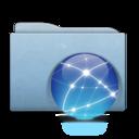 Folder Blue Globe Aqua