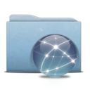 Folder Blue Globe Graphite