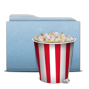 128x128 of Folder Blue Pop Corn