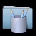 Folder Blue Work