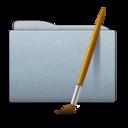 128x128 of Folder Graphite Art