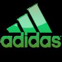 Adidas green logo