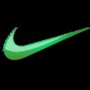 Nike green logo