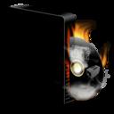 128x128 of Cd burner burning