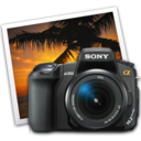 sony a350 iphoto icon by darkdest1ny