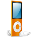 iPod Nano orange on