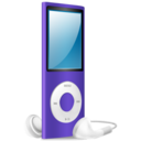 iPod Nano purple on