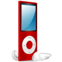 iPod Nano red on