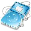 ipod video blue apple