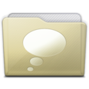 128x128 of beige folder chats