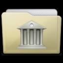 128x128 of beige folder library