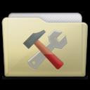beige folder utilities