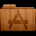 128x128 of Applications Wood