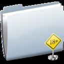 128x128 of Folder Sign 18