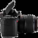 Nikon D40 side