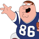Peter Griffin Football zoomed