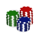 128x128 of Poker Chips
