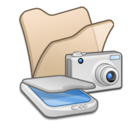 Folder beige scanners cameras