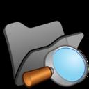 128x128 of Folder black explorer