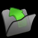 128x128 of Folder black parent