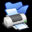 Folder blue printer