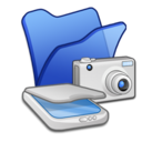 Folder blue scanners cameras