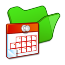 128x128 of Folder green scheduled tasks