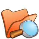 Folder orange explorer